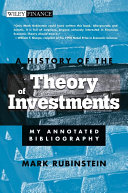 A History of the Theory of Investments