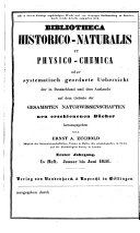 Bibliotheca historico-naturalis, physico-chemica et mathematica ...