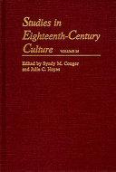 Studies in Eighteenth century Culture