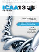 13th International Conference on Aluminum Alloys (ICAA 13)