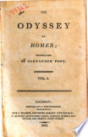 The Odyssey of Homer Translated by Alexander Pope  Vol  1    3