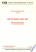 Ceb Fip Model Code 1990 Supplementary Documents For The First Predraft