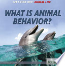 What Is Animal Behavior  Book