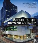 Pdf Architecture Beyond Criticism