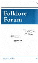 Folklore Forum Book