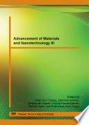 Advancement Of Materials And Nanotechnology Iii Book PDF