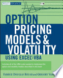 Option Pricing Models and Volatility Using Excel VBA Book