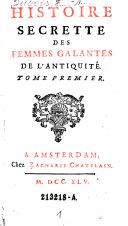 Histoire Secrette Des Femmes Galantes De L'Antiquité