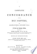 A Complete Concordance to the Holy Scriptures Book