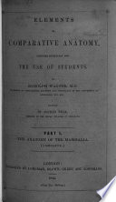 Elements of the Comparative Anatomy of the Vertebrate Animals Book