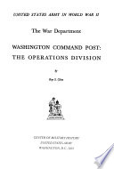 Washington Command Post The Operations Division