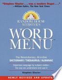 Random House Webster's word menu