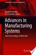 Advances in Manufacturing Systems