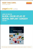 Color Atlas of Dental Implant Surgery Pageburst E book on Kno Retail Access Card