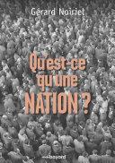Qu'est-ce qu'une nation ? [Pdf/ePub] eBook