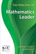 The Principal as Mathematics Leader Pdf/ePub eBook
