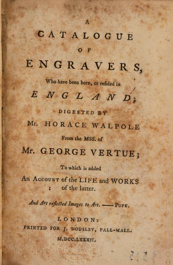 A Catalogue of Engravers