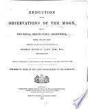 Reduction of the Observations of the Moon