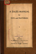 A Sales Manual for Toys and Playthings
