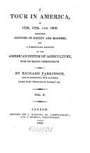 A tour in America  in 1798  1799  and 1800