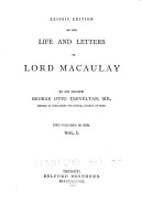 Leipsic Edition of the Life and Letters of Lord Macaulay