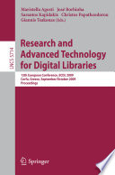 Research and Advanced Technology for Digital Libraries Book