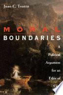 Moral Boundaries Book