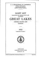 Light List Including Fog Signals  Buoys  and Daymarks