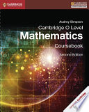 Books - Cambridge O Level Mathematics Coursebook | ISBN 9781316506448