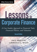 Lessons in Corporate Finance Book