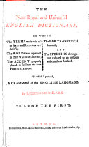 The New Royal and Universal English Dictionary ... ebook