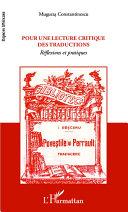 Pdf Pour une lecture critique des traductions Telecharger