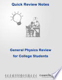 Key Concepts in Physics Quick Review for High School & College Students  : Quick study review notes for students