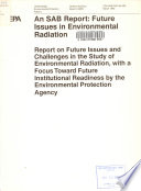 Future Issues in Environmental Radiation