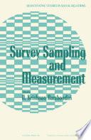 Survey Sampling and Measurement Book