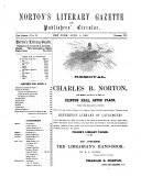 Norton's Literary Gazette and Publishers' Circular