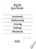 Academic Dishonesty Among College Students Book