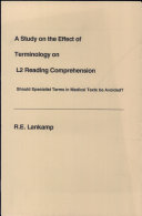 A Study on the Effect of Terminology on L2 Reading Comprehension
