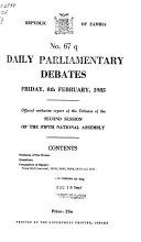 Daily Parliamentary Debates