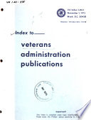 Index To Veterans Administration Publications