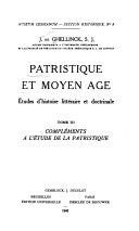 Patristique et moyen âge