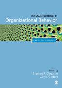 The Sage Handbook Of Organizational Behavior Macro Approaches
