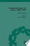 Communications In Africa 1880 1939