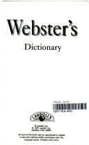 Webster s Dictionary Book