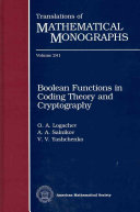 Boolean Functions in Coding Theory and Cryptography