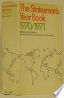 The Statesman S Year Book 1970 71