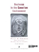Business in the Canadian Environment Book