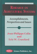 Research on Agricultural Systems Book