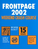 FrontPage  2002 Weekend Crash Course