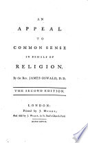An Appeal to Common Sense in behalf of Religion     The second edition